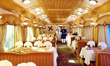 Deccan Odyssey Zugreise Speisewagen
